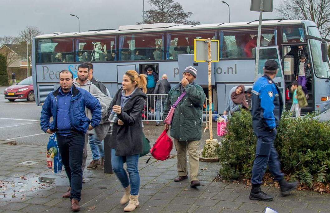 aankomst vluchtelingen