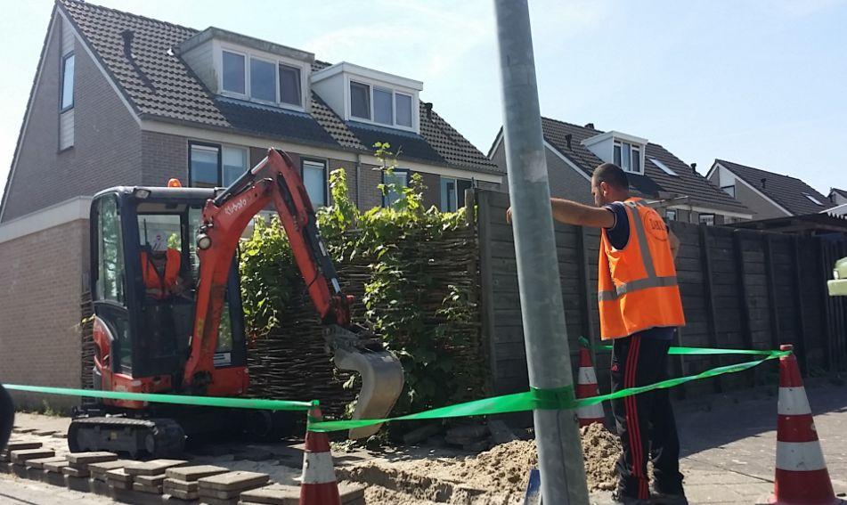 Aanleg van het glasvezelnetwerk in 't Veld (Foto aangeleverd)