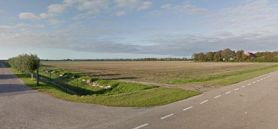 Het gebied waar binnenkort een enorm serverpark zal worden gebouwd (Foto: GoogleMaps)