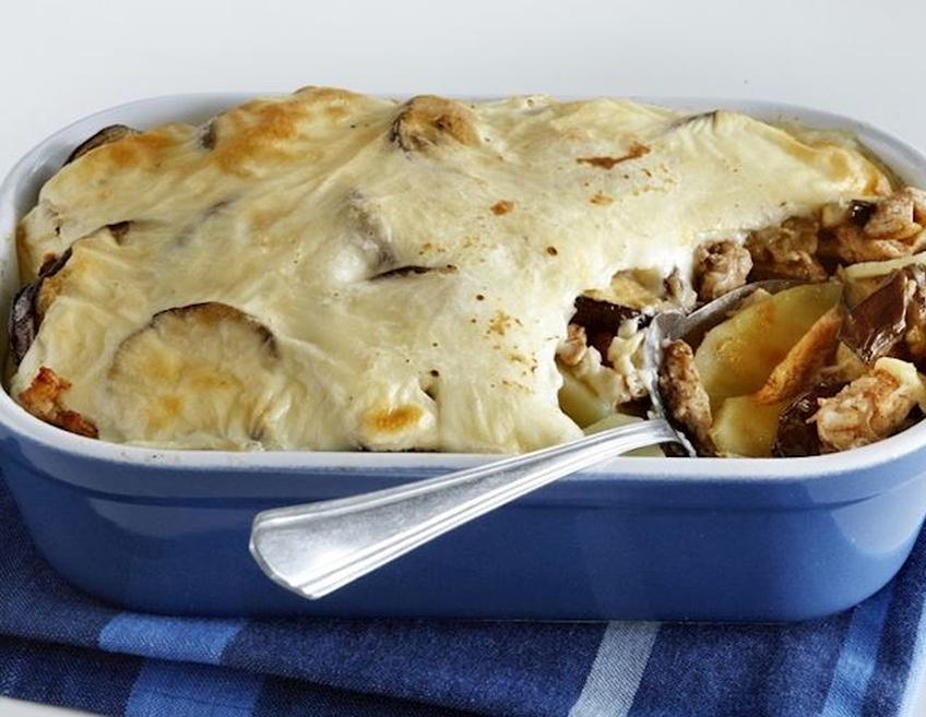 Wat eten wij vandaag: Moussaka met pittige kip